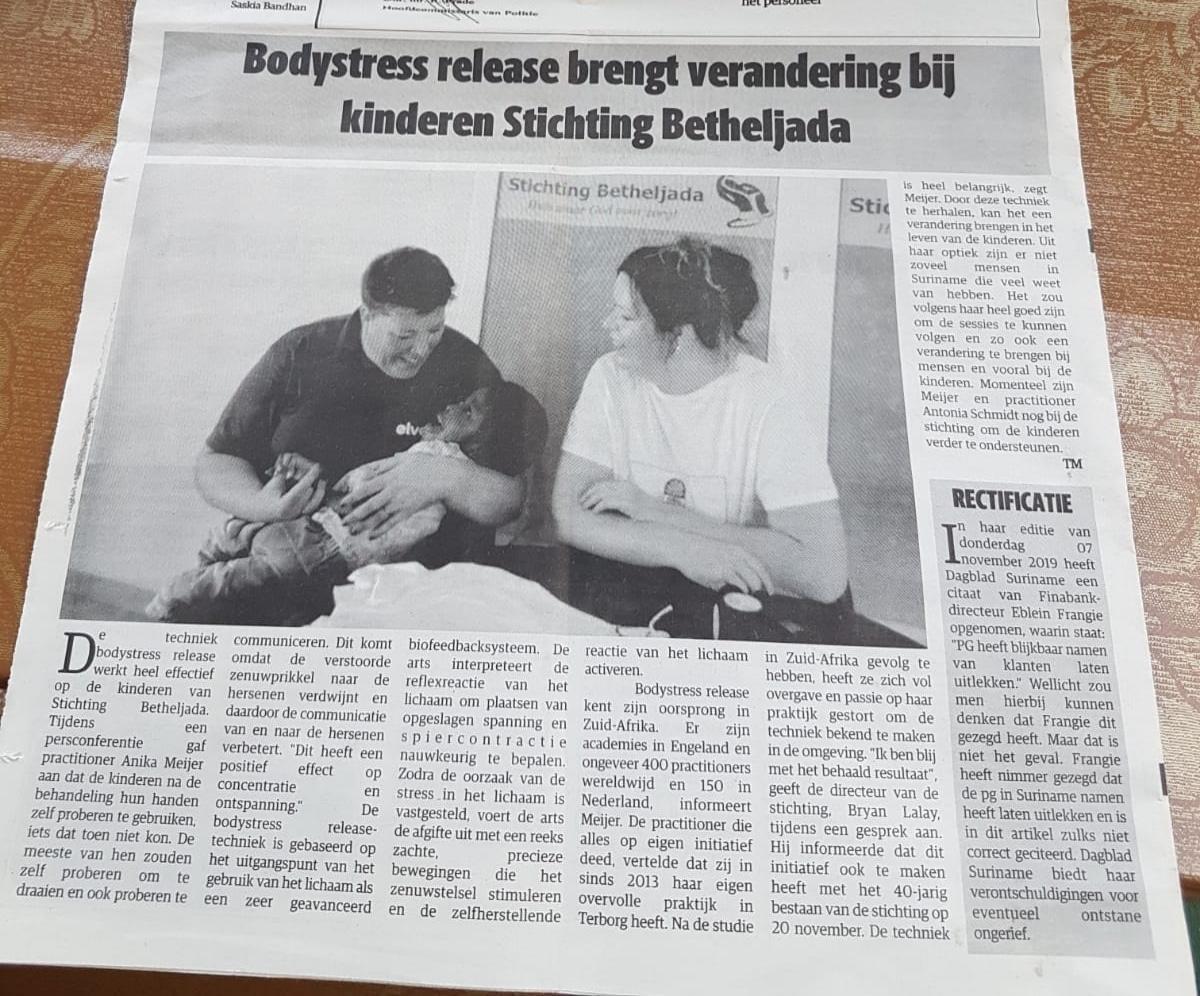 BSR4ALL in de krant Dagblad Suriname
